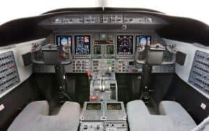 Bombardier Learjet 45 XR cockpit