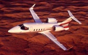 Bombardier Learjet 60XR in flight