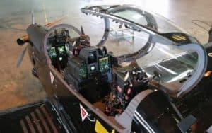 Embraer Super Tucano open cockpit