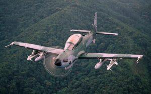 Embraer Super Tucano full speed