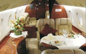Embraer Legacy 500 luxurious interior seating