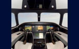 Embraer Phenom 300 cockpit flight deck