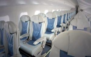 Embraer 170 interior seats
