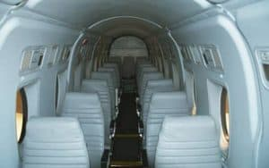 Embraer EMB 120 Brasilia interior seating