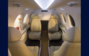 Embraer Phenom 100 interior seating configuration